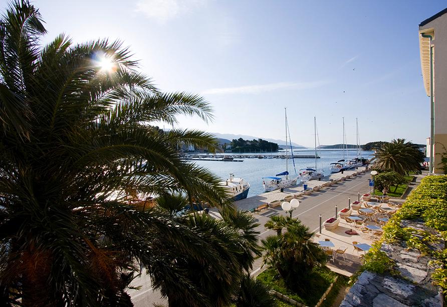 Hotel International in Rab auf der Insel Rab, Panoramaussicht