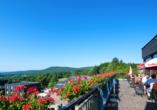Rhön Park Hotel in Hausen-Roth in der Rhön, Terrasse