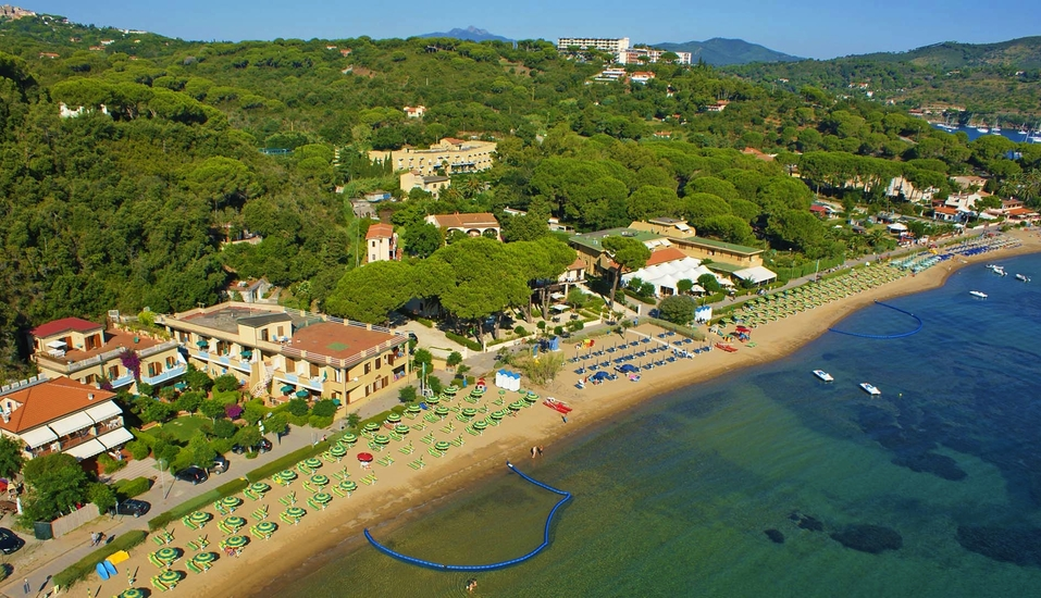 Le Acacie Hotel & Residence in Capoliveri Italien, Naregno Strand und Anlage