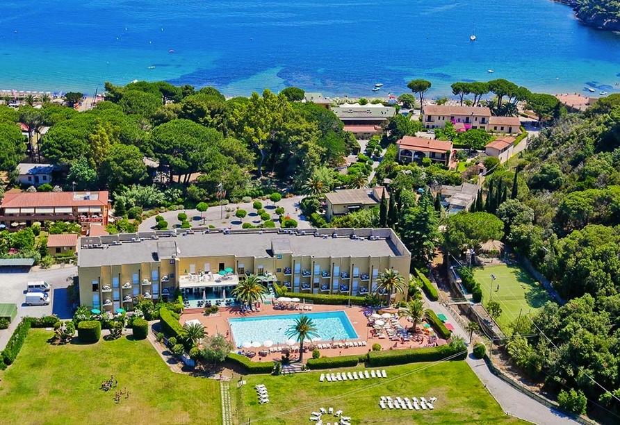 Le Acacie Hotel & Residence in Capoliveri Italien, Außenansicht