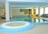 Hotel Atol Resort in Swinemünde, Polnische Ostsee, Hallenbad im Hotel Atol
