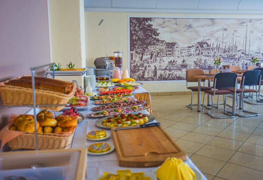 Hotel Atol Resort in Swinemünde, Polnische Ostsee, Frühstück