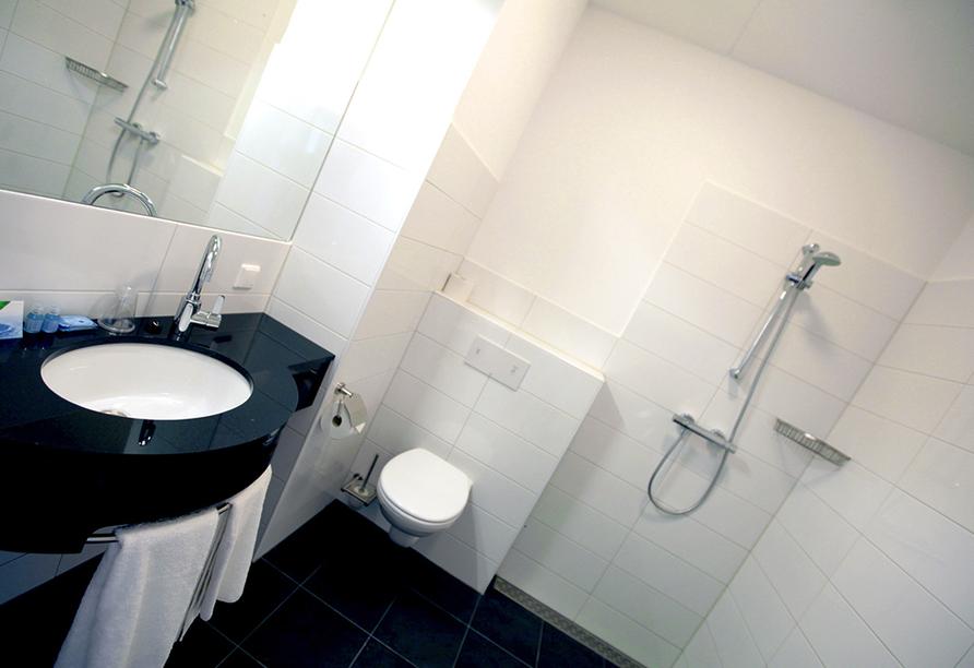 Hotel De Bonte Wever, Badezimmerbeispiel
