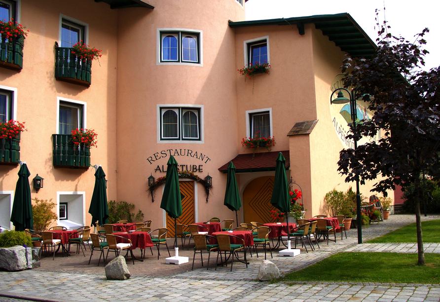 Ferienhotel Alber in Mallnitz in Kärnten Terrasse