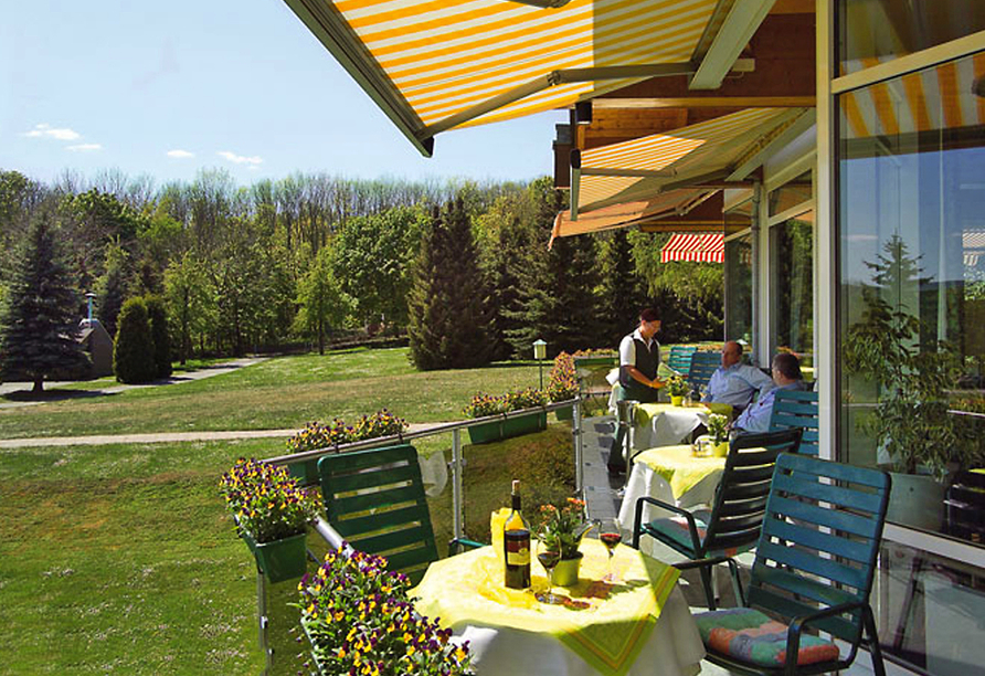Berghotel Vogelherd, Terrasse