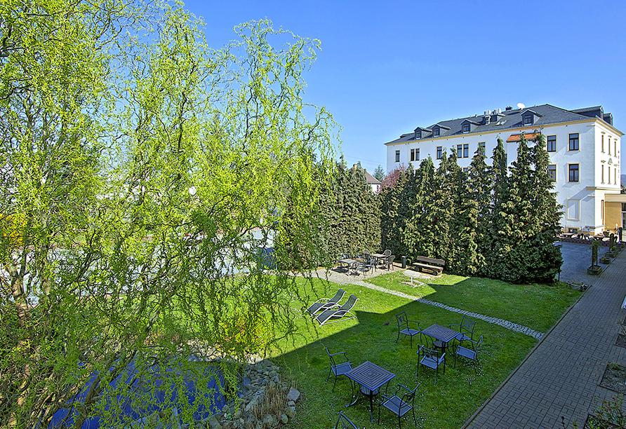 Hotel Reichskrone in Heidenau, Gartenanlage