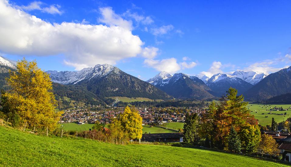 Allgäu Landschaft Blick auf die Oberstdorfer, Berge