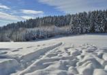 Hotel zur Post Erlau im Bayerischen Wald, Winterlandschaft