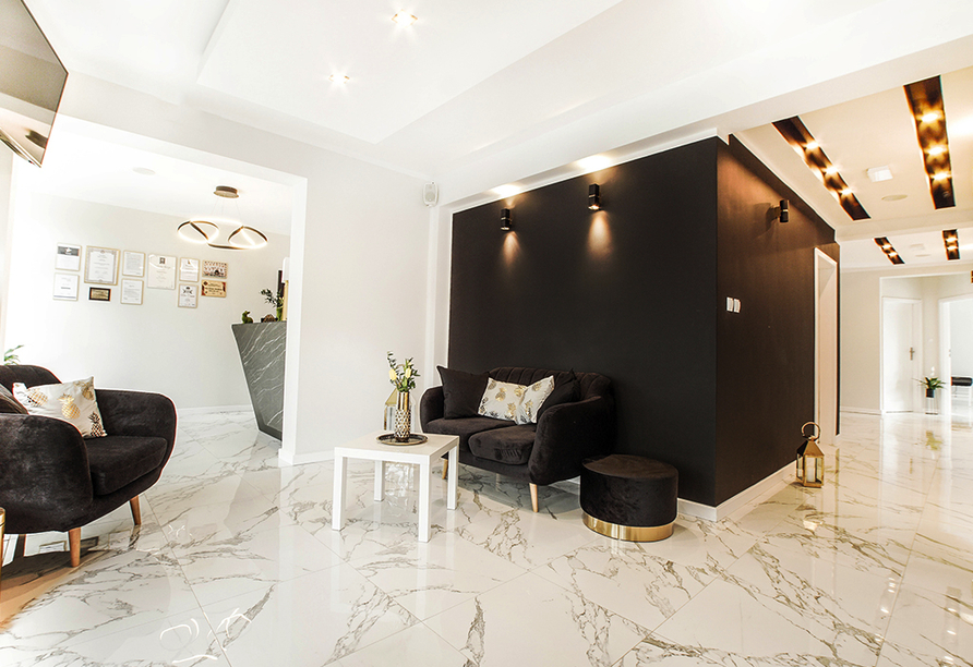 Hotel New Corner in Niechorze, Rezeption