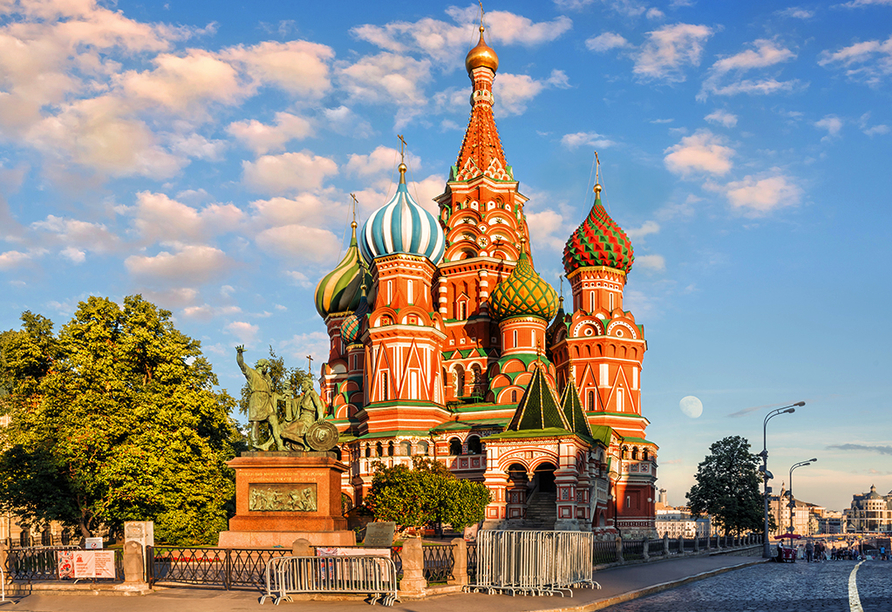 Moskau & St. Petersburg, Basilius-Kathedrale Moskau