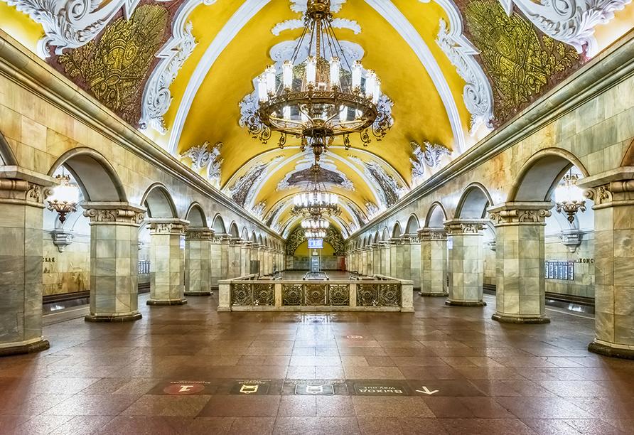 Moskau & St. Petersburg, Moskauer Metro
