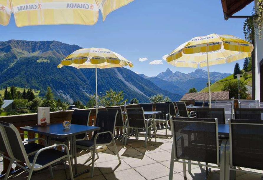 Hotel Sonnenhalde in Davos Wiesen, Terrasse
