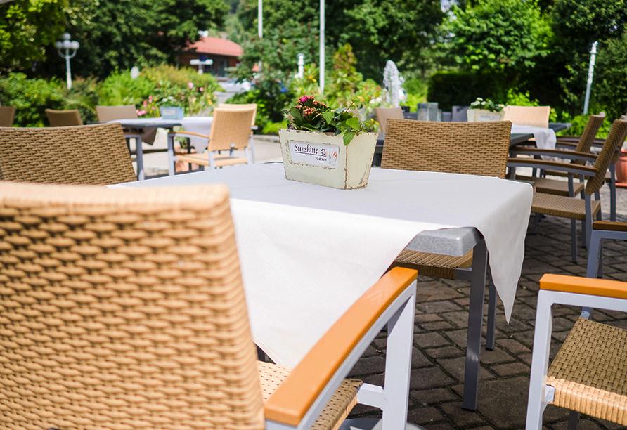 WAGNERS Hotel und Restaurant im Frankenwald in Steinwiesen, Terrasse