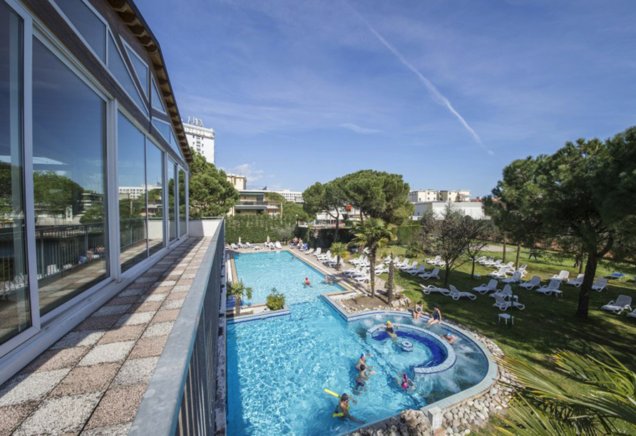 Hotel Terme Milano in Abano Terme, Außenpool
