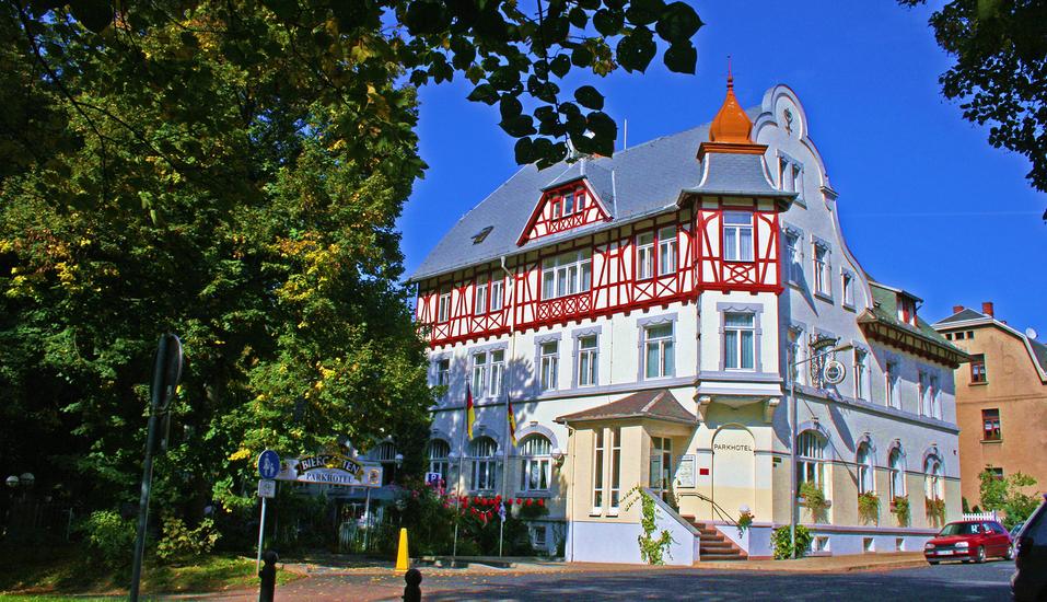 Parkhotel Meerane, Außenansicht