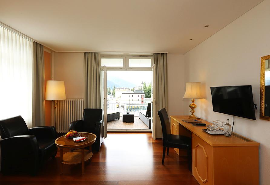 Hotel Europe in Davos Platz, Beispiel Doppelzimmer Superior