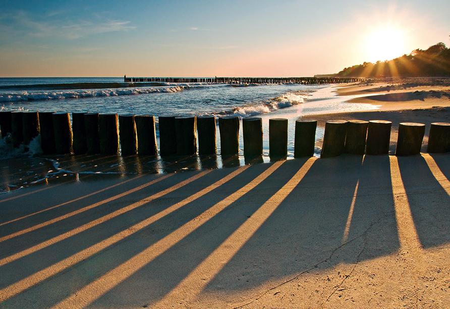 Hotel Relax Inn Health & Spa in Henkenhagen an der polnischen Ostseeküste Strand