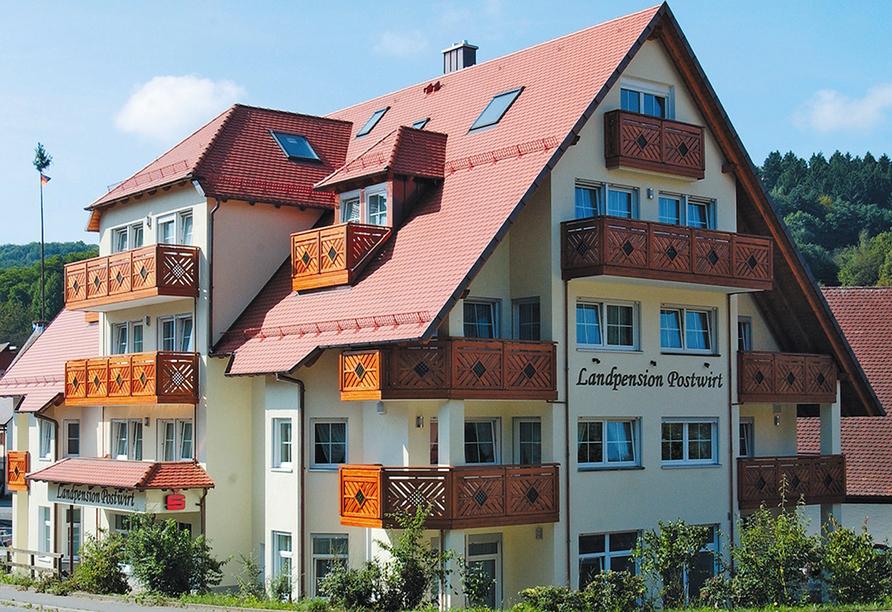 Landpension Postwirt in Kirchensittenbach in Mittelfranken, Außenansicht