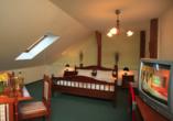 Hotel Praha in Gottesgab im Erzgebirge in Tschechien, Beispieldoppelzimmer