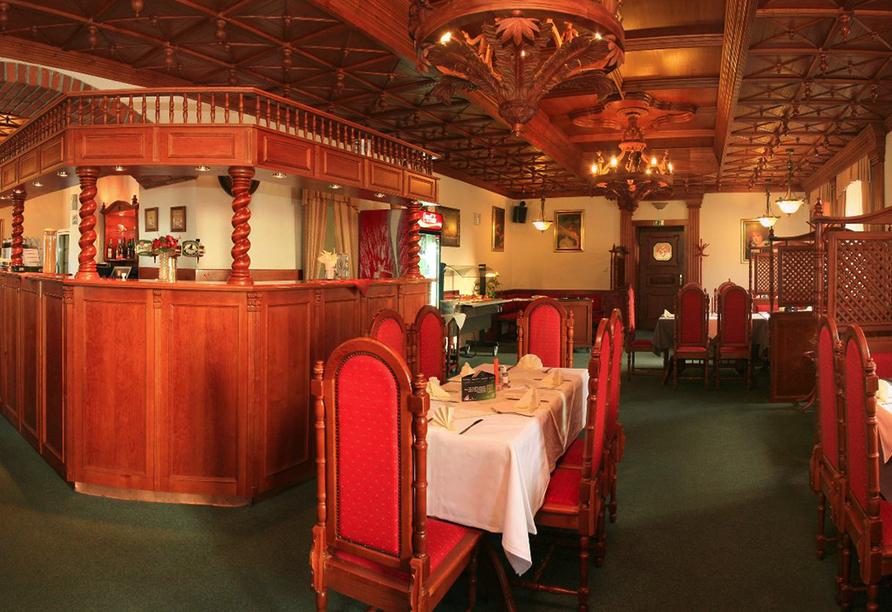 Hotel Praha in Gottesgab im Erzgebirge in Tschechien, Restaurant