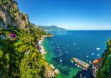Golf von Neapel, Ischia, Capri, Amalfiküste, Landschaft Amalfiküste