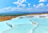 Türkische Riviera & Pamukkale, Kalksinerterrassen