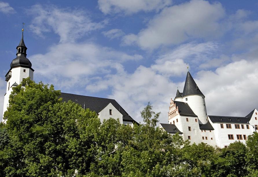 Landhotel Osterlamm in Grünhain-Beierfeld, Schloss Schwarzenberg
