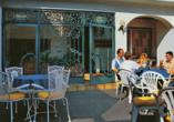Moselstern Hotel Zum guten Onkel in Bruttig-Fankel Mosel, Terrasse