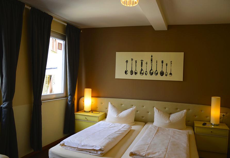Hotel Rheinstein in Rüdesheim, Beispiel Doppelzimmer