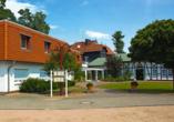 Seehotel Karlslust in Storkow/Mark in Brandenburg, Außenansicht