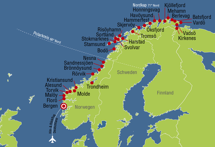 MS Nordkapp, Reiseverlauf