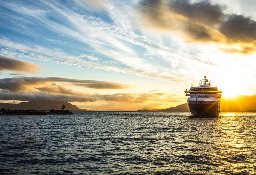 MS Nordkapp, Sonnenaufgang