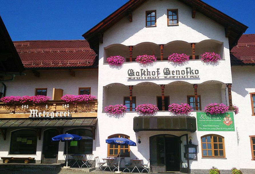Gasthof Genosko, Spiegelau, Bayerischer Wald, Außenansicht