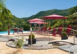 Moselstern Parkhotel Krähennest in Löf an der Mosel, Sonnenliegen