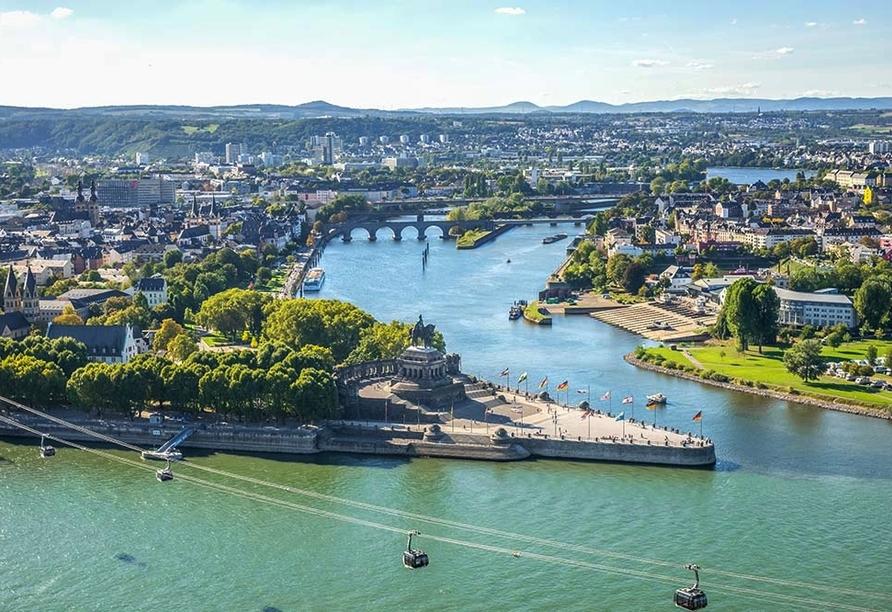 Moselstern Parkhotel Krähennest in Löf an der Mosel, Ausflugsziel Koblenz