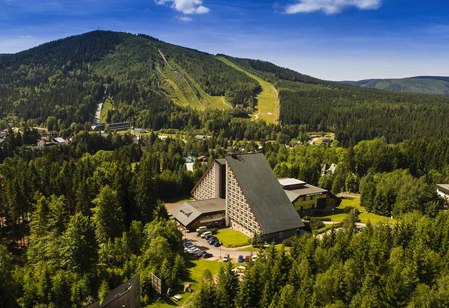 OREA Vital Hotel Sklár in Harrachov im Riesengebirge Außenansicht