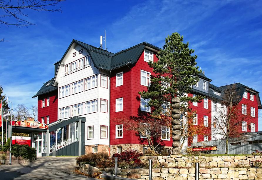 Berghotel Oberhof Thüringer Wald, Außenansicht vom Berghotel Oberhof