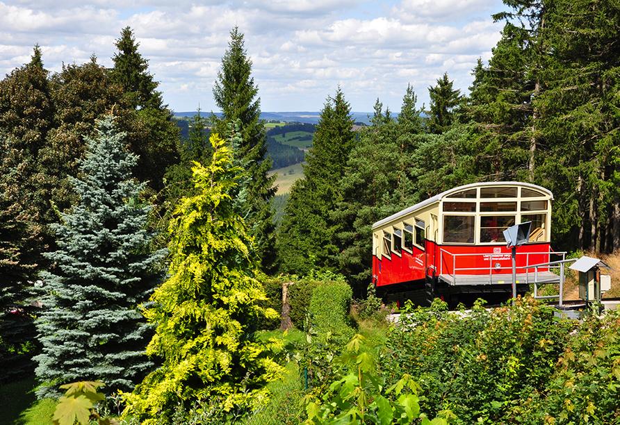 Hotel Im Kräutergarten in Cursdorf im Thüringer Wald Bergbahn