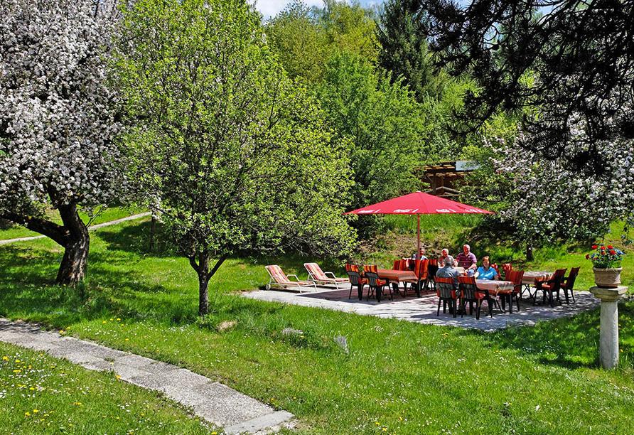 Hotel Stark in Ringelai im Bayerischen Wald, Garten