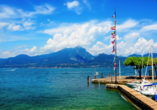 Hotel Internazionale in Torri del Benaco, Blick auf den See