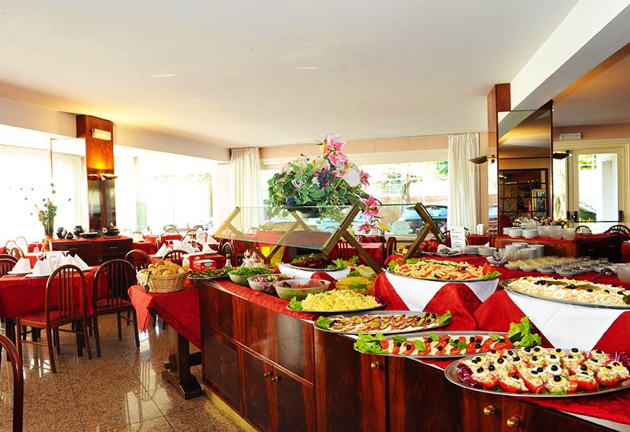 Hotel Internazionale in Torri del Benaco am Gardasee Frühstücksbuffet
