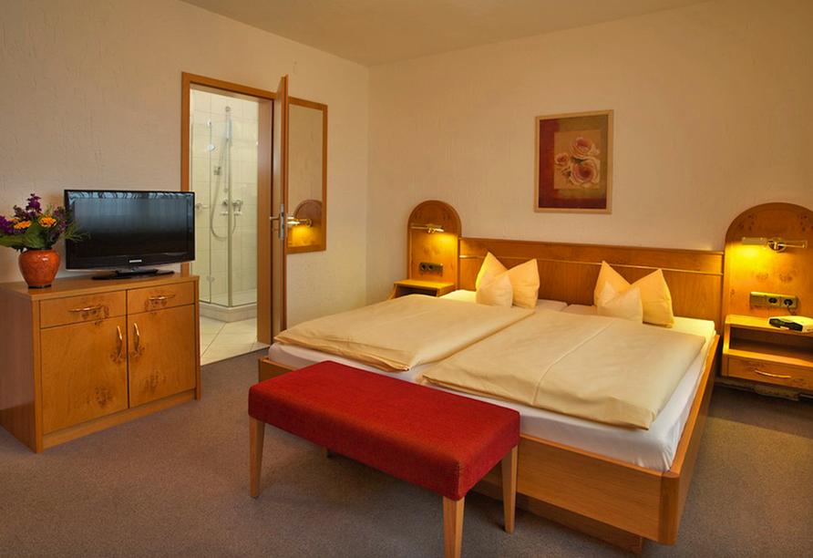 Landhotel Seeg, Beispiel Doppelzimmer