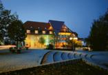 Parkhotel Neustadt in Neustadt in der Sächsischen Schweiz Nachtaufnahme