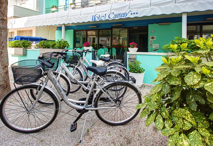 Hotel Camay in Cesenatico, Adria, Italien, Leihfarräder