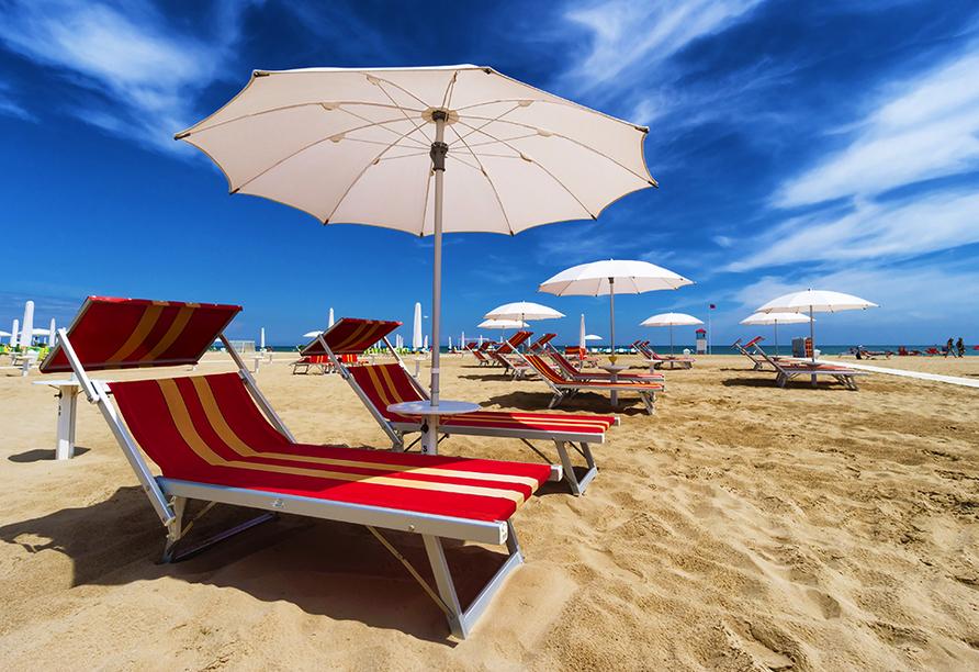 Hotel Camay in Cesenatico, Adria, Italien, Strand Rimini