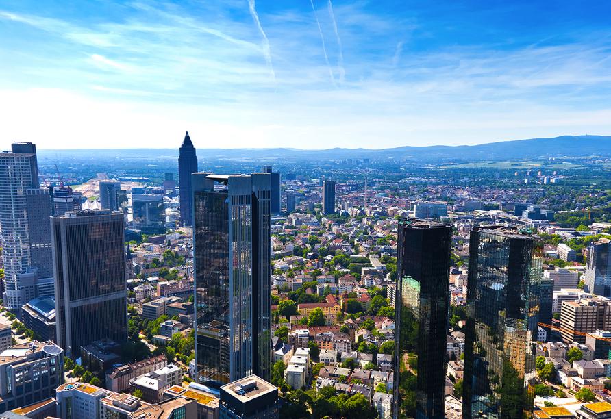 The Domicil Hotel Frankfurt, Blick auf Frankfurt
