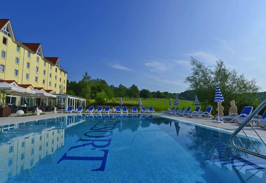 FAIR RESORT in Jena in Thüringen, Außenansicht Pool