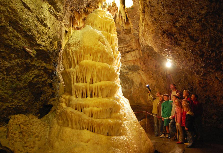 Das Ausflugsziel Tropfsteinhöhle in Eberwalde