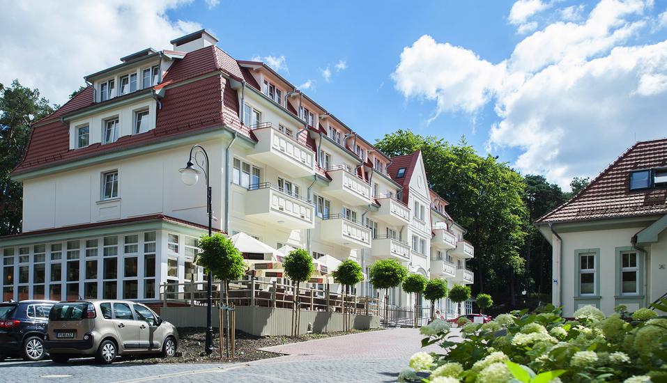 Kaiser's Garten Hotel in Swinemünde, Außenansicht