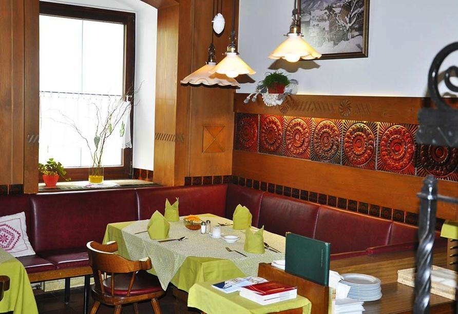 Hotel Heitzmann in Mittersill, Restaurant